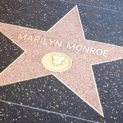Usa kalifornien los angeles hollywood walk of fame marilyns stjarna1
