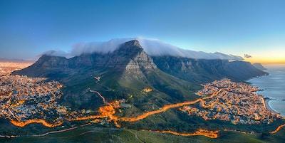Table Mountain är en av de mest besökta turistmålen i Kapstaden.