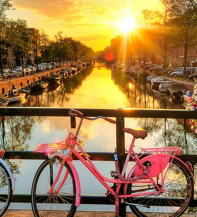 Kanal i Amsterdam.